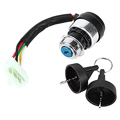 Amazon.com: 5 Wire 5 Pin Ignition Key Switch Start Lock For Most 50 ...