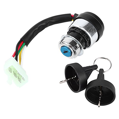 Yosoo 5 Wire 5 Pin Ignition Key Switch Start Lock for Most 50-250CC Motorcycle Dune Buggy Go Kart ATV