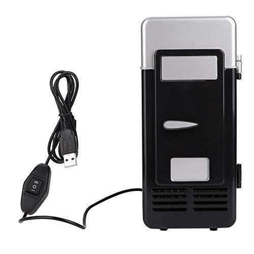 Mini Fridge, Mini Refrigerator, USB Portable Lightweight Car Travel Camping for Office(Black)