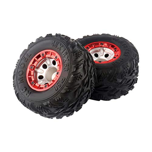 Binory 2PCS Upgrade 100mm Wheels Tire Spare Part for Wltoys/Feiyue FY 1:12 RC Car