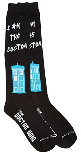 Costume Doctor 10th Shoes (Doctor Who I Am The Doctor Womens Knee High)