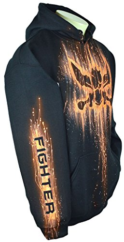 Sid Vicious League Of Legends Hoodie Custom Airbrushed Fighter Design, Pullover + Name, Adult, Medium, Black