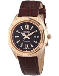 Seiko Womens Velatura SXDG12 Brown Leather Quartz Watch
