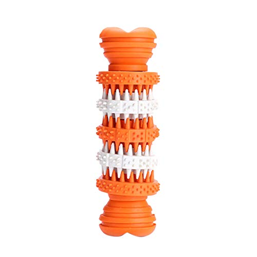 Shipping Free!UMFun Dog Molar Stick Brushing Stick Dogs Effective Toothbrush Doggy Brush Stick Molar Stick 4x4x11.5cm (Orange) ()