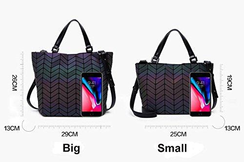Bag Bag Sequins Tote Folding Women Folding Casual Big Geometric Handbag Bags Bag Bucket Mirror wBq4R1BH5