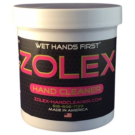 Zolex Water Activated Hand Cleaner and Grease Remover - Stain Remover for Mechanics| Non-Toxic, Petroleum-Free | EZ Carry 3/4 lb Jar (Pack of 8) by Zolex (Image #4)