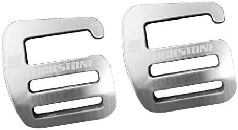 ultra strong 25mm 2pcs Metal G Hook Webbing Buckle lightweight Tactical