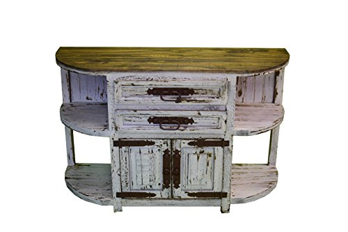 Rustic White Credenza San Francisco Sofa Table TV Stand Console Entryway Western For Sale