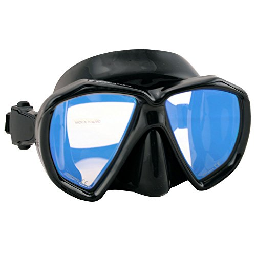 (Promate Scuba Dive Mask with Color Corrective Lenses, Yellow)