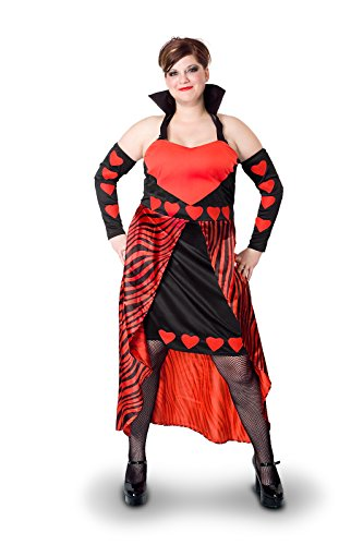 [Sunnywood Women's Plus-Size Lava Diva Queen Of Hearts Costume, Red/Black, 3X-Large] (Plus Size Queen Of Hearts)