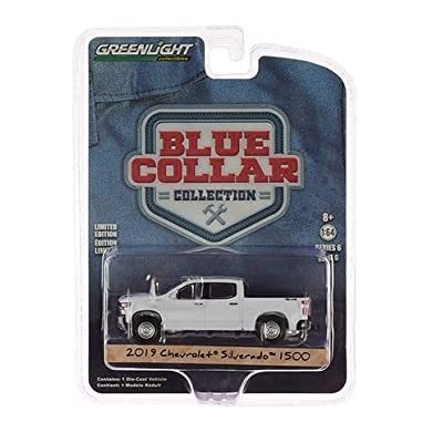 Greenlight 35140-F Blue Collar Collection Series 6-2020 Chevrolet Silverado 1500 WT 1:64 Scale: Toys & Games