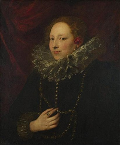 'Anthony van Dyck - Portrait of a Woman,about 1625-7' oil painting, 12x15 inch / 30x37 cm ,printed on polyster Canvas ,this High Definition Art Decorative Prints on Canvas is perfectly suitalbe for Bedroom gallery art and Home artwork and Gifts (Bedroom Brass Daybed)