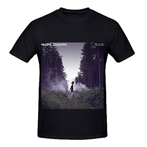 Imagine Dragons Roots RocknRoll Album Mens O Neck Printed T Shirt Black (Oreo Root Beer compare prices)