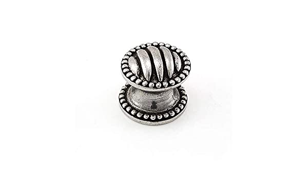 Vintage Pewter Vicenza Designs K1067 Sanzio Lines and Beads Knob Small