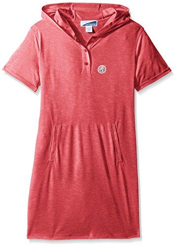 White Sierra Girls Bug Free Hooded Short Sleeve Dress, X-Small, Raspberry