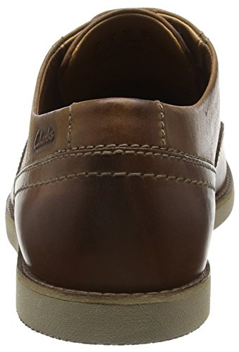 Leather Tan Marron Franson Homme Plain Derby Clarks wqOYv1