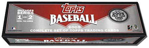 (2005 Topps MLB Baseball Factory Sealed Hobby Version Set with 5 Bonus Exclusive First Year Cards Plus Justin Verlander Rookie Card and More)