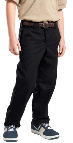 Dickies Big Boys' Slim Straight Pant, Black, 12 (Dickies Kids Uniform)
