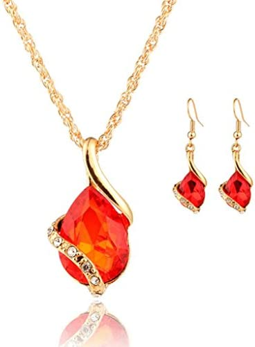 Funic 1Set Women's Heart-Shaped Crystal...