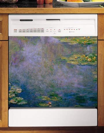 Water Lilies Appliance Art Decorative Magnetic Dishwasher Fr