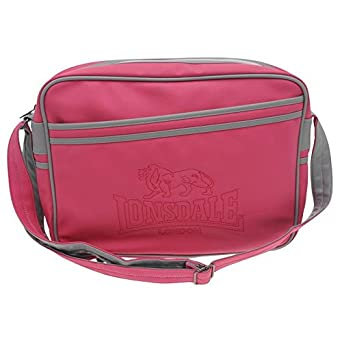Lonsdale Fluorescent Flight Bag Charcoal Pink  Amazon.co.uk  Clothing 10da812cb2f20