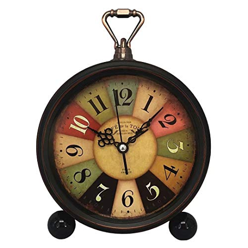 Konigswerk Retro Alarm Clock, Analog Desk Clock for Living Room Table Decor (Tuscan Style) (Design In Room Living Shelves)