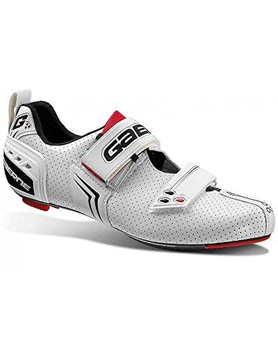 Gaerne Carbon Speedplay G.Kona Scarpe Triathlon Ciclismo, White - 42.5