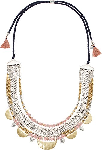 Lucky Brand Women's Statement Collar Necklace Two-Tone One (Two Tone Collar)