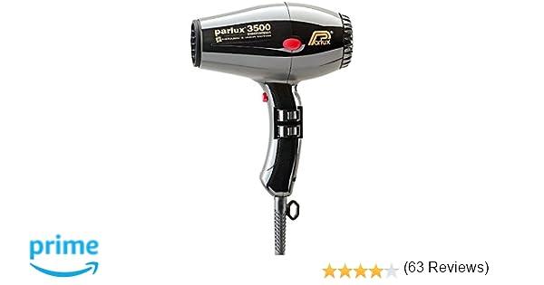 Parlux 3500 Supercompact - Secador de pelo de cerámica con iones, color negro: Amazon.es: Salud y cuidado personal