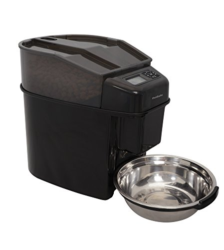 PetSafe Healthy Pet Simply Feed Automatic Feeder, Dispenses Dog Food or Cat Food, Digital Clock