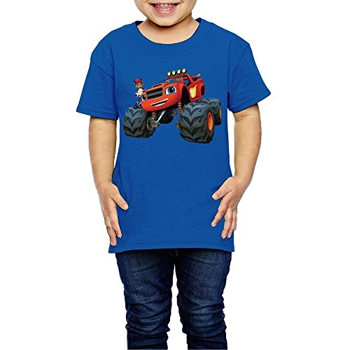 OZZLC Blaze And The Monster Machines Unisex T-shirt 2 Toddler RoyalBlue For 2-6 Years Old
