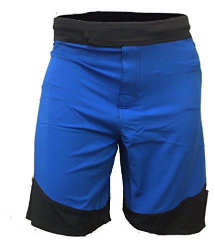 Epic MMA Gear WOD Shorts For Men Agility 3.0 (38, Blue/Black Trim)