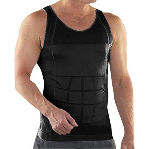 キロメートルフォーラムうがい薬トップタイメンズスリミングボディシェイパーベストシャツアブス腹部スリム 圧縮ベストシェイプウェア