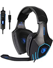 $30 » SADES SA819 Gaming Headset for PC, MAC, PS4, Xbox ONE, 3.5mm Surround Stereo Wired Gaming Headset, Over Ear Headphones with Mic Revolution Volume Control, Noise Canceling(Black)