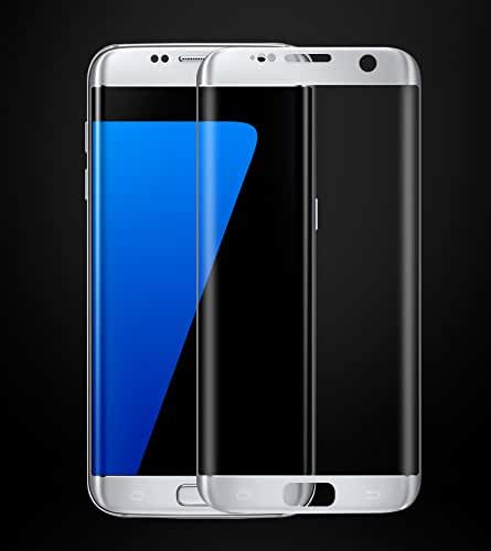 Galaxy S8 Screen Protector,UCLL Curved Edge Colorful Tempered Glass Screen Protector For Samsung Galaxy S8 Full Cover Bubble-Free Anti-Scratch Film (silver)