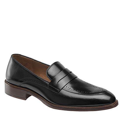 - Johnston & Murphy Men's Sayer Penny Black Italian Calfskin 10 M US
