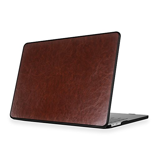 Fintie Protective Case for MacBook Pro 13 2018 & 2017 & 2016 Release - PU Leather Coated Hard Cover for Newest 13-inch MacBook Pro 13'' A1989/A1706/A1708 with/Without Touch Bar and Touch ID, Vin-Brown by Fintie (Image #3)