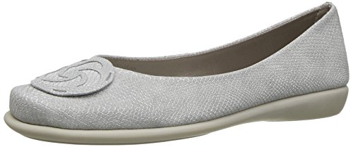 The Flexx Women's Bon Bon Ballet Flat White Milos s22Yu