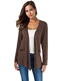 2adf22693b9 ... Plus-Size   Maternity. Women s Loose Casual Long Sleeved Open Front  Breathable Cardigans with Pocket