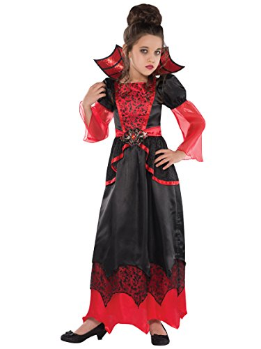 Spider Queen Costumes For Kids - amscan Girls Vampire Queen Costume -