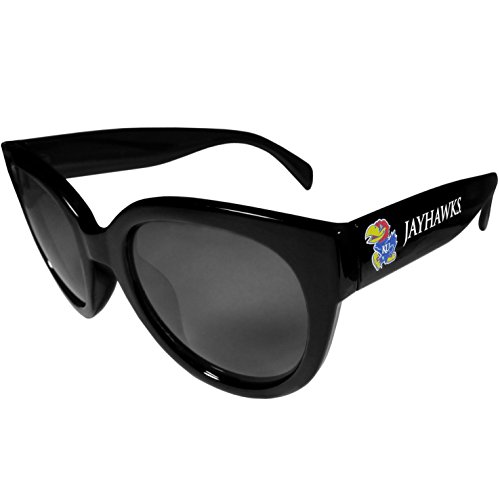 Siskiyou NCAA Kansas Jayhawks Womens Sunglasses, - Black Jayhawks Kansas Sunglasses