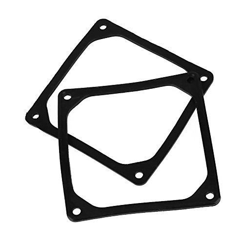 Gasket Fan (BQLZR Black 80mm PC Computer Case Fan Silencer Anti-Vibration Rubber Gasket Pad Pack Of 2)