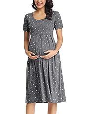 BBHoping Women's Maternity Sleeveless Dresses Maternity Tank Dress Mama Scoop Neck Baby Shower Pregnancy Dress