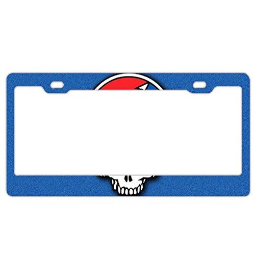 Jailjack License Plate Frames, Grateful Dead Steal Your Face Aluminum alloy Car Licence Plate Covers
