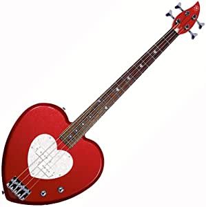 daisy rock heartbreaker bass guitar red hot red musical instruments. Black Bedroom Furniture Sets. Home Design Ideas