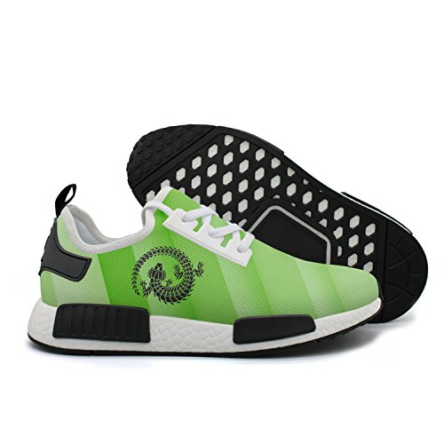 discount Black lizard curled up a circle women's running shoes on sale