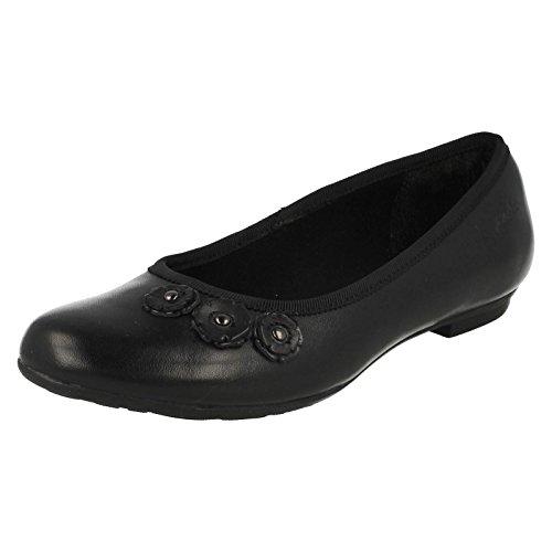 Clarks Mädchen Schule Abitha Joy Junior Leder Schuhe in schwarz