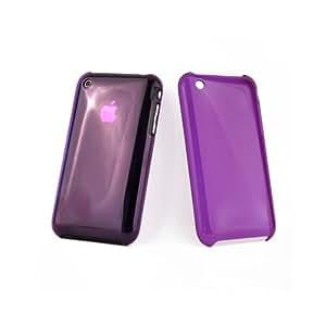 Color de la caja de Color violeta transparente para Apple iPhone 3 g
