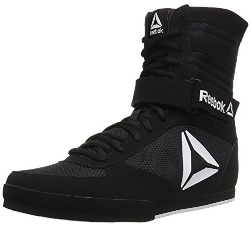 Reebok Women's Boot Boxing Shoe Black/White 8 M US