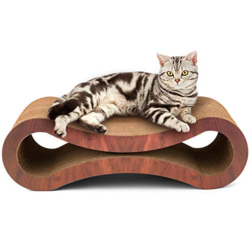 SPifTY Kitty Says 'I Own it and I Love it'! Premium Quality New Cat Scratcher Lounge Post Perch Bed Couch with Catnip - Durable Stylish Superior Comfortable Eco-Friendly Pet Furniture - Cherrywood